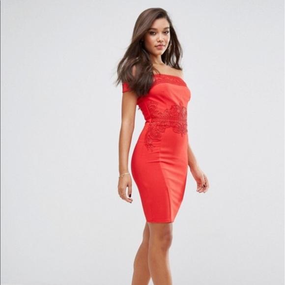e911ac3d025782 Dresses | Red Lipsy London Bardot Bodycon Dress | Poshmark